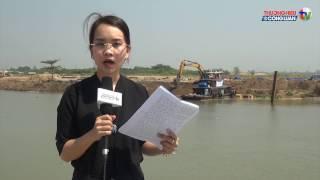 Hoạt động thi công rầm rộ của dự án Khu du lịch và dịch vụ Cù lao Tân Vạn đang san lấp một phần diện tích lớn mặt nước sông Đồng Nai, đoạn ngã ba sông Ngọc.