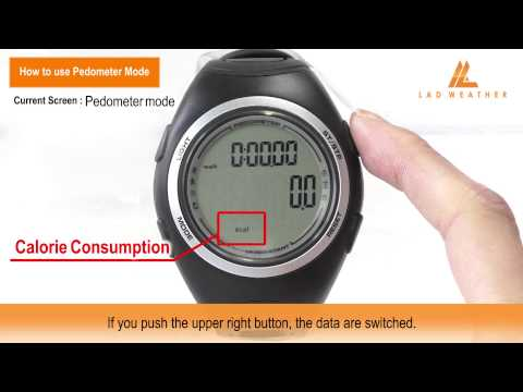 How to use Pedometer Mode | PEDOMETER MASTER II