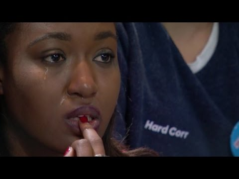 A day with Clinton fans: From jubilation to devastation