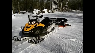 6. 2015 Skidoo Skandic 900 ACE SWT - Grooming XC Ski Trails with a Ginzu