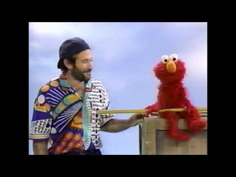 Elmo and Robin Williams (blooper reel)