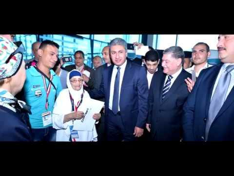 بالفيديو .. قيادات الطيران في حفل توديع أول أفواج حج مصرللطيران