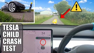 Why does the Model 3 have trouble detecting kids & stopping? | Tesla Autopilot FSD Safety Crash Test by Pokemon Cards