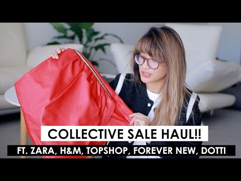 COLLECTIVE FASHION SALE HAUL!! | Zara, Topshop, H&M, Kmart, Forevernew