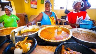Video First Time Trying GHANAIAN FOOD!! Amazing Palm Nut Soup in Accra, Ghana, West Africa! MP3, 3GP, MP4, WEBM, AVI, FLV September 2019