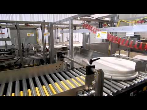 CHL Floor Pads into FOL Cases Case Packer