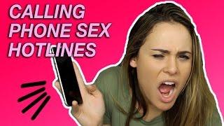 CALLING PHONE SEX HOTLINES