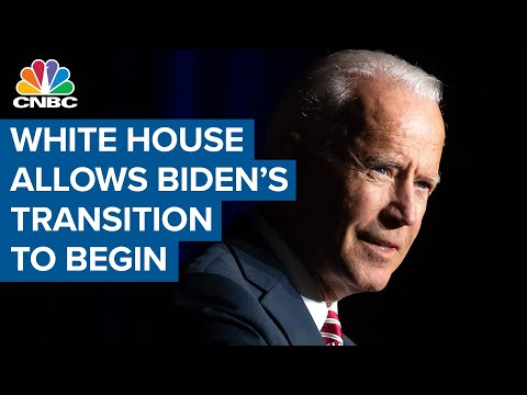 The Trump administration allows Joe Biden's transition to begin after weeks of denial