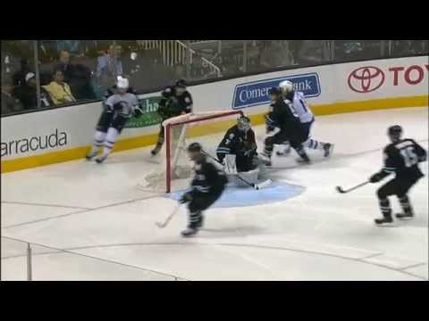 Blake Wheeler 2-2 Goal vs Sharks [March 27, 2014]