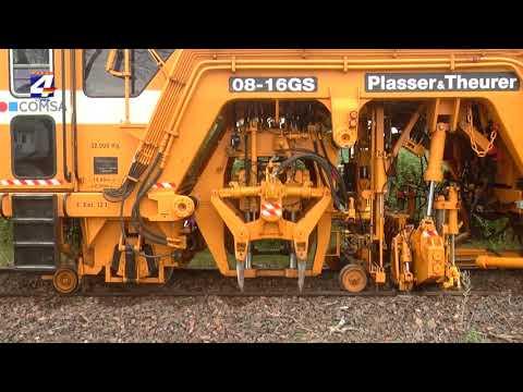 Trabajan en la nivelación de las vías en el tramo que pasa por la ciudad de Paysandú