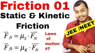 Class 11 chap 5 || Friction Force 01 ||Static and Kinetic Friction || Friction IIT JEE  /  NEET ||