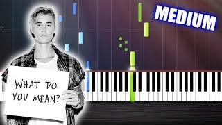 Justin Bieber - What Do You Mean - Piano Cover/Tutorial  Ноты и МИДИ (MIDI) можем выслать Вам (Sheet