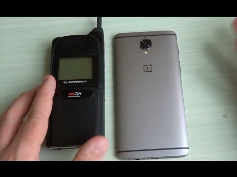 Come sono cambiati i cellulari in questi anni? Motorola S8051BBH vs OnePlus 3