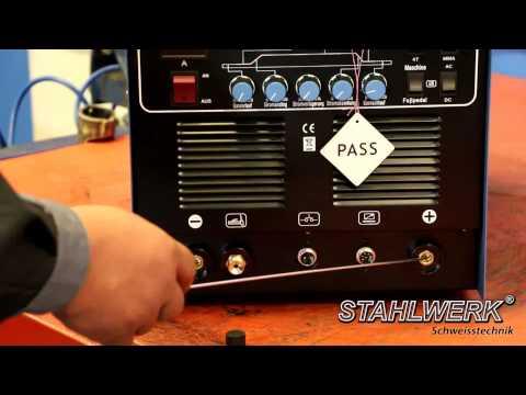 Welding Machine STAHLWERK AC/DC Plasma 200P - AC DC TIG Inverter / Pulse / ARC / Plasma Cutter
