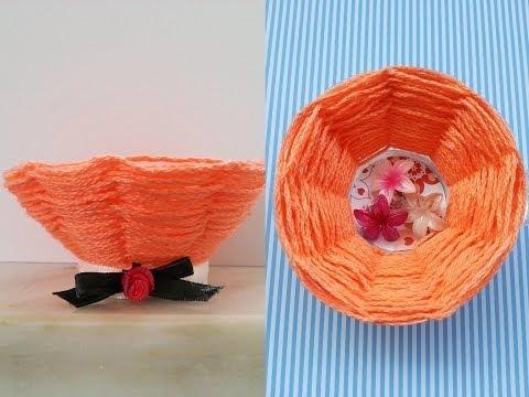 come creare un cestino da un bicchiere di plastica!