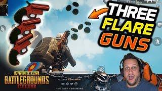 Video I FIRED 3 FLARE GUNS AT THE SAME TIME! 😈 CHAOS! PUBG Mobile MP3, 3GP, MP4, WEBM, AVI, FLV Maret 2019