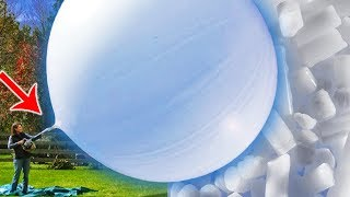 Video WHAT HAPPENS IF GIANT BALLOON FILL WITH DRY ICE? MP3, 3GP, MP4, WEBM, AVI, FLV Mei 2018