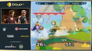 [SPOILER]Ice IS EN FIAAAR – Takes 3 stocks in 1 minute from Leffen to finish the set