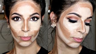 How to Cream Contour & Highlight Drugstore Products - YouTube