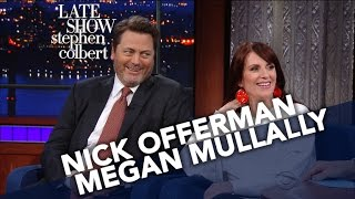 Video Nick Offerman And Megan Mullally Decide Their Celebrity Couple Name MP3, 3GP, MP4, WEBM, AVI, FLV Mei 2018