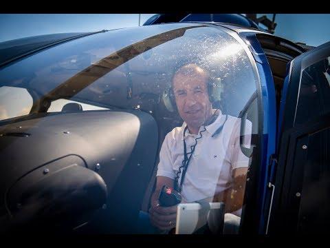 Un tour en hélicoptère avec Leonardo Jardim