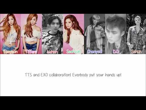 TTS Ft EXO - DJ Got Us Falling In Love (Eng | Hang | Rom) - Color Coded