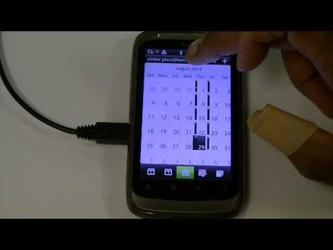 how to set reminder in htc desire v