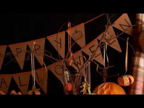Basteln Sie eine dekorative Halloween-Girlande