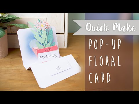 How to Make a Pop-Up Floral Card - Sizzix