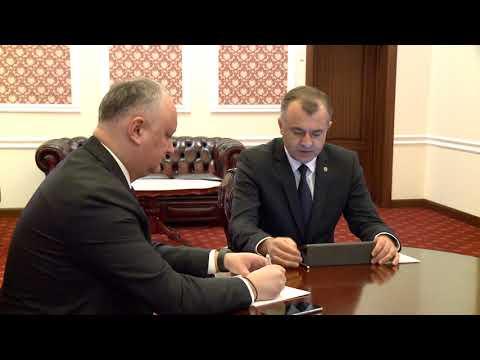 Igor Dodon a participat la ședința săptămînală cu Ion Chicu