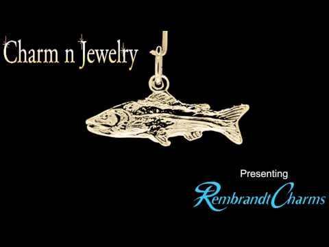 Fish Gold Charm Style 2091