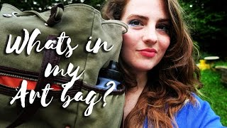 Whats in my travel art bag?