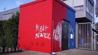 Opgeknapt transformatorhuisje bij voetbalclub binnen één dag beklad