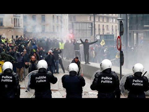 Belgien: Ausschreitungen rechter Demonstranten in Brüssel - 69 Menschen festgenommen