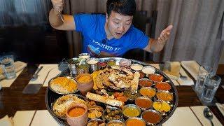 Video MASSIVE Plate of INDIAN FOOD (Thali) Over 30 ITEMS!!! MP3, 3GP, MP4, WEBM, AVI, FLV Oktober 2018