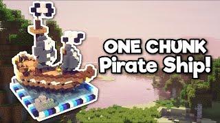Minecraft: Pirate Ship in ONE CHUNK! [Tutorial]