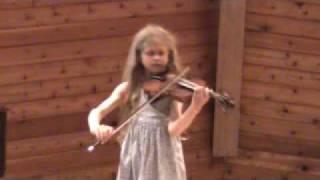 Sadie Hamrin age 9 violin Bartok Rumanian Folk Dances at Suzuki camp 2009