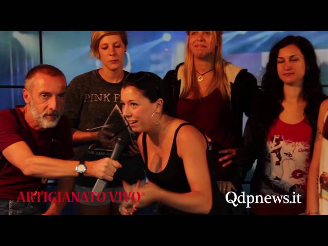 Qdpnews.it - Intervista a Pink Armada al Qdp point di Artigianato Vivo