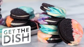 How to Make Marbled Oreos in 3 Easy Steps | Get the Dish by POPSUGAR Food
