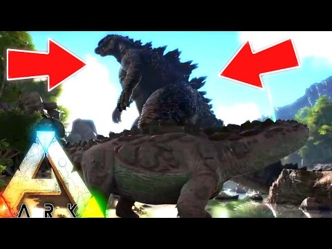 ARK Survival Evolved - GODZILLA MOD TOTALLY DWARFS THE TITANO, NEW DRAGONS & MAP PREVIEW - Gameplay