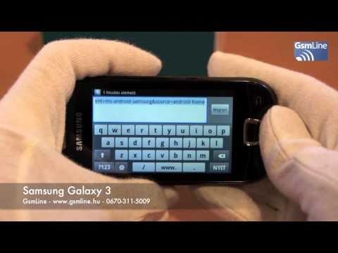 Samsung I5800 Galaxy 3 teszt videó