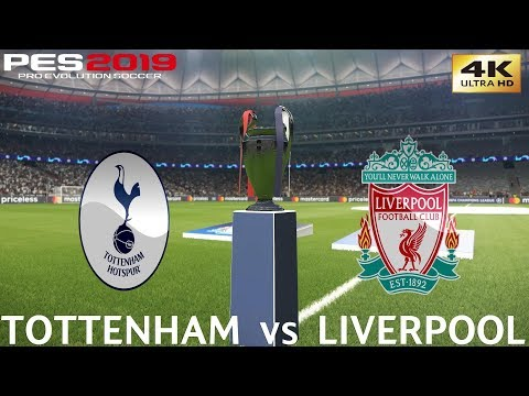 PES 2019 (PC) Tottenham vs Liverpool | UEFA CHAMPIONS LEAGUE FINAL| 1/6/2019 | 4K 60FPS