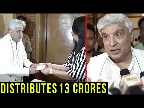 Javed Akhtar Gives Away 13 Crores! Find Out Why
