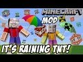 It's Raining TNT! Mike & Dad play Minecraft