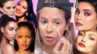 FULL FACE OF MAKEUP BY CELEBRITIES  HIT OR MISS