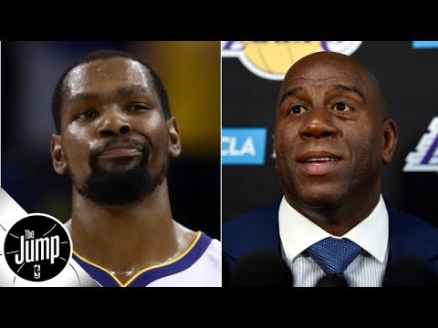 Video: Kevin Durant tweeted (and deleted) a response to Magic Johnson's First Take comments | The Jump