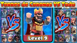 Video Torre de Coronas VS Todas las Cartas // Clash Royale MP3, 3GP, MP4, WEBM, AVI, FLV September 2019