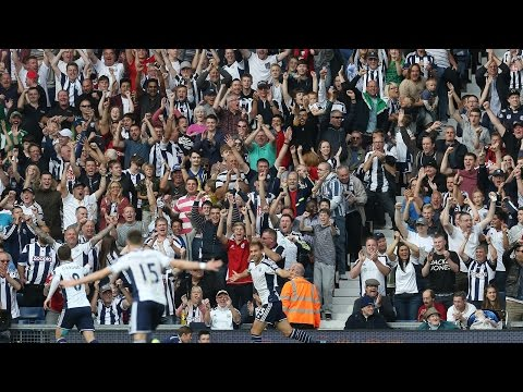 boingboing - West Bromwich Albion supporters celebrate with a 'boing-boing' and belt out 'The Lord's My Shepherd' during the 4-0 Barclays Premier League in over Burnley a...