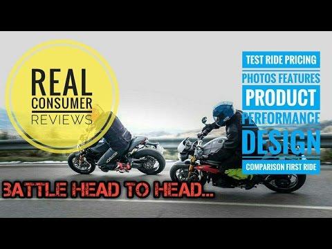 Battle Ducati Monster 1200S vs Triumph Speed Triple R Reviews