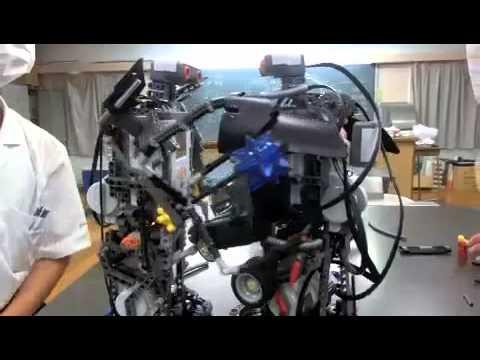 20140821清教学園中学校理科部~ヒューマノイドロボット~
